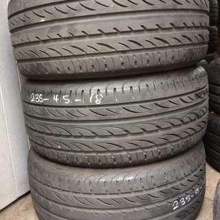 Used Pirelli PZERO Nero 235/45/18 Tyre