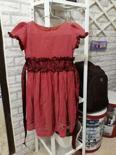 Dress marun #makintebel