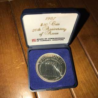 1987 $10 Coin 20th Anniversary ASEAN