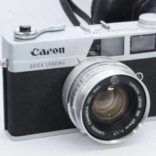 Canon Canonet QL-17 45mm F1.7 Lens Rangefinder Complete Work Exc from Japan