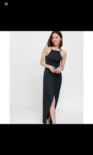 FOR RENT Davonna foldover maxi dress