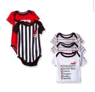 *9M* Brand New Puma 5 Pack Bodysuits For Baby Boy