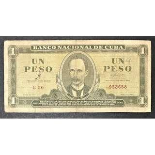 1961 1 peso Cuba F