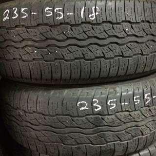 Used Bridgestone Dueler 235/55/18 Tyre