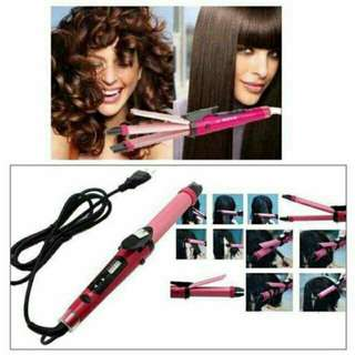 Nova 2 in 1 hair straightener and curler