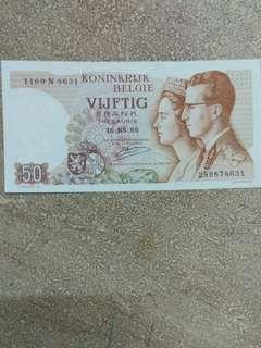 Belgium 50 Francs 1966 issue