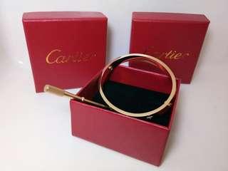Cartier gold screw bangles