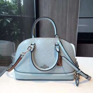 Coach Mini Sierra Satchel in Signature Debossed Patent