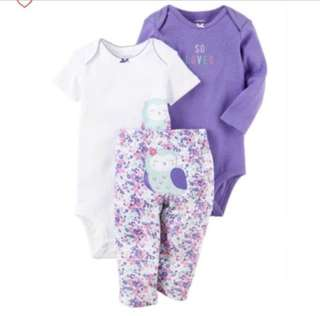 *12M* BN Carter's 3-Piece Little Character Set For Baby Girl