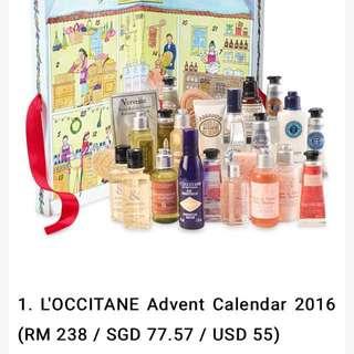 INZ INSTOCK L'Occitane 2016 Christmas advent calendar