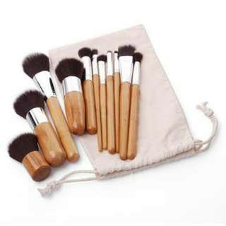 11pcs Kabuki Bamboo Brush Set