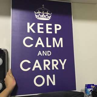 Keep Calm and Carry On canvas poster