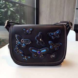 Coach Patricia Saddle Bag - black