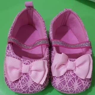 Sepatu pinky glitter baby