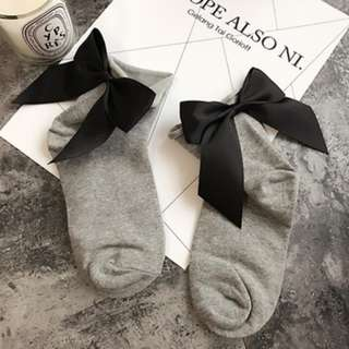 Harajuku Bow Tie Cotton Socks
