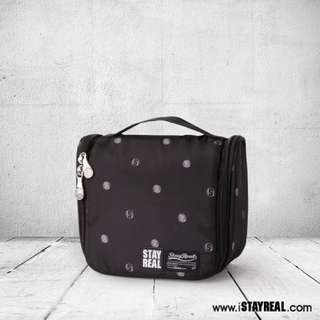 BN authentic stayreal moving polka dots travel kit