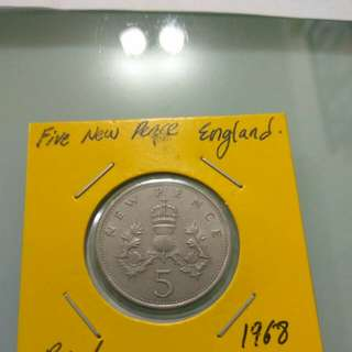 England 5 new pence