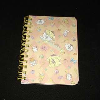 Sanrio 日本正版 Pompompurin 布甸狗 布丁狗 B7 記事本 筆記簿 單行簿