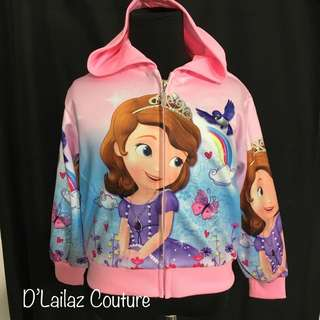 Sofia the first Jacket Hoodie Baby Pink Size 2-4yrs old