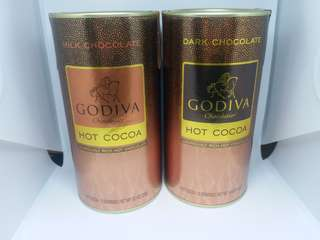 Godiva milk/dark chocolate powder 牛奶/黑朱古力粉