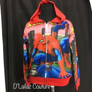 Spiderman Red Hoodie Jackets Kids Boys Size S, M, L left!