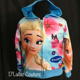 Princess Elsa Frozen Hoodie Jacket Girls Last Pc Size S left!