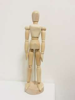 Wooden mannequin / figure / model for drawing and art