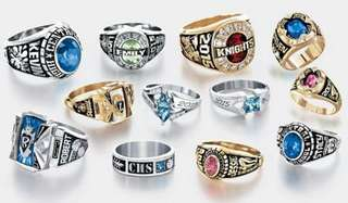 Customize wedding Graduation ring memorial ring champion ring provide picture custom logo