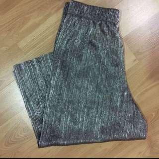 SALE- Zara metallic pleated culottes