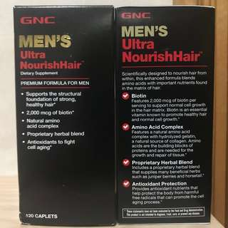 優惠$400/2樽🔥男士頭髮🔥 男士配方/特強滋養頭髮GNC MEN'S Ultra NourishHair (120粒) 2個月量
