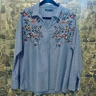 Bershka Embroidered shirt