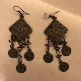包郵 民族風 耳環 earring