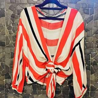 Zara Wrap over blouse