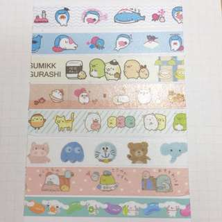 Cartoon/Character Washi Tape Samples