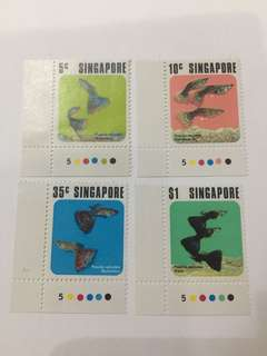 Singapore 1974 Fish Series mnh