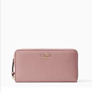 SALE Kate Spade Jackson Street Lacey Continental Long Zip Wallet Dusty Peony Pink