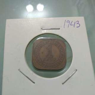 1943 Malaya Coin
