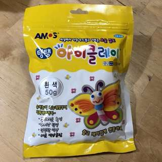 AIR DRY KOREA SOFT CLAY (50g)  White