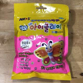AIR DRY KOREA SOFT CLAY  (50g) Fluorescence pink #bajet20