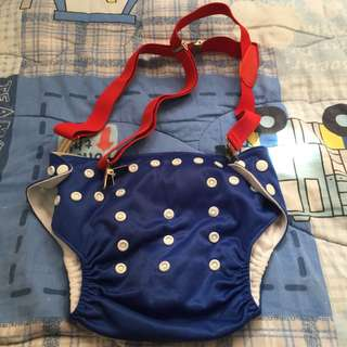 Cloth diaper and suspender