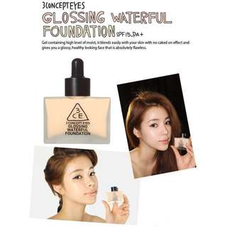AUTHENTIC 3CE WATERFULL FOUNDATION - CLEARANCE U.P $49.90!