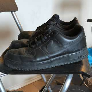 Black Air Force 1s  size 10.5