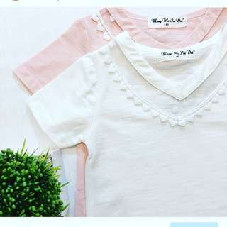 Twincess blouse. White & pink 1th-6th