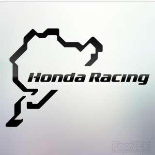 Nurburgring Honda Racing Sticker Decal