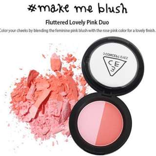 AUTHENTIC 3CE DUO FACE BLUSH #MAKE ME BLUSH - CLEARANCE U.P $29.90!