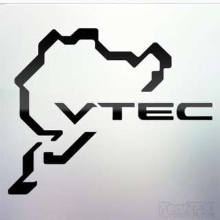 Nurburgring Honda VTEC Sticker Decal