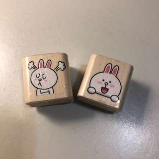 Line Cony Stamps X2