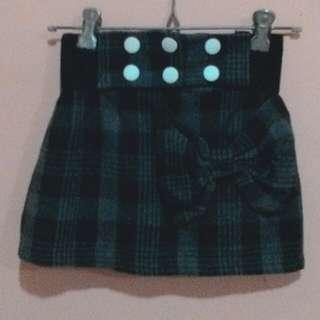 Rok mini kotak hitam&coklat gelap