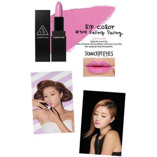 AUTHENTIC 3CE LIP COLOR #508 SWING SWING - CLEARANCE U.P $29.90!