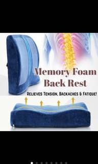 Memory Foam Back Rest Cushion With Strap